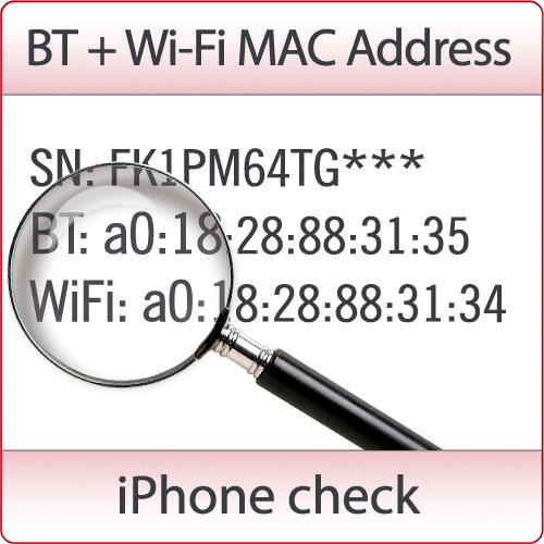 Check Bluetooth + Wi-Fi MAC Address by SN (Picture Reply)